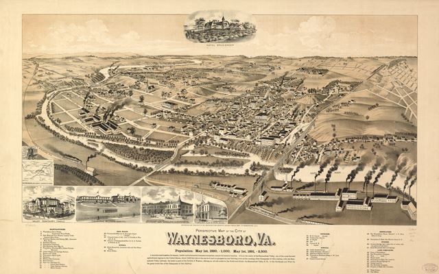 Waynesboro, VA in 1891