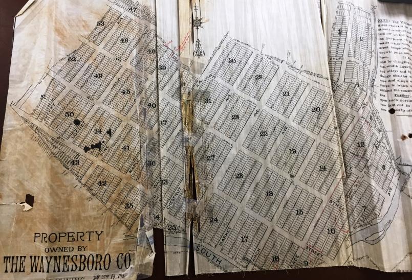 The Waynesboro Company Plat Map Image courtesy of Augusta County Courthouse, Staunton VA